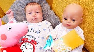 Spiel mit Baby Born  Mamas Schule mit Peppa Wutz  3 Kindervideos am Stück