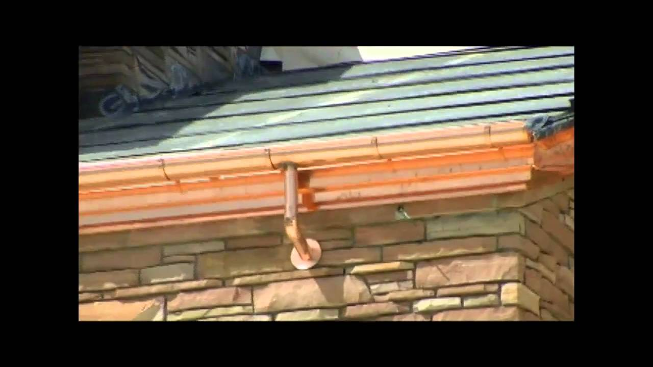 Installing Copper 1 2 Round Gutters At The University Of