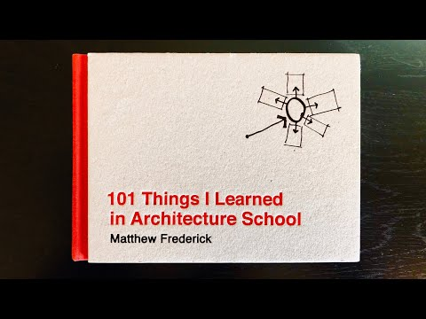 Book Review: 101 Things I Learned In Architecture School | Matthew Frederick | Episode #1