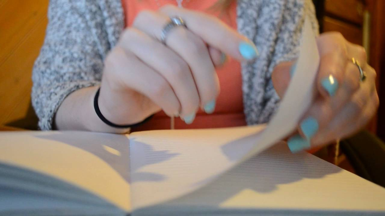 ASMR - Book Sounds ♡ Tapping, Scratching, Page Flipping & Writing
