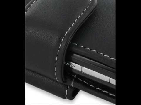 PDair Leather Case for Samsung B7300 Omnia Lite - Horizontal Pouch Type (Black)