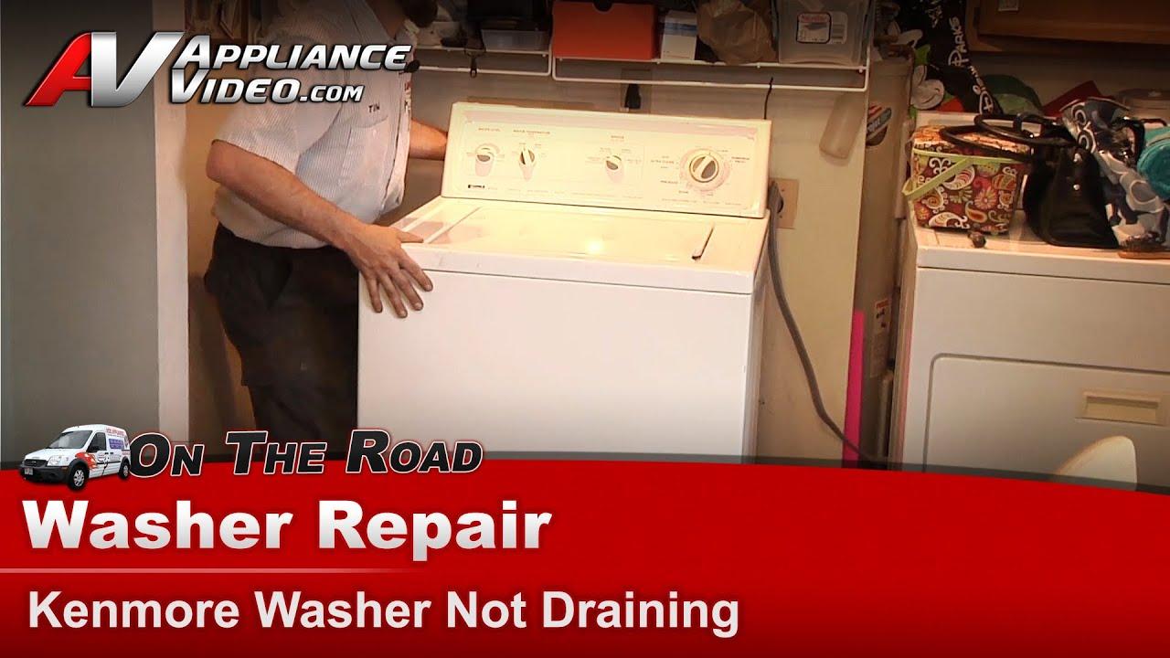 Kenmore Washer Repair >> Kenmore Washer Repair - Not Draining - 1102483220 - YouTube