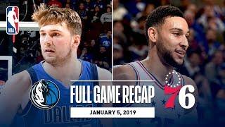 Full Game Recap: Mavericks vs 76ers   Ben Simmons Records His 6th Triple-Double Of The Season