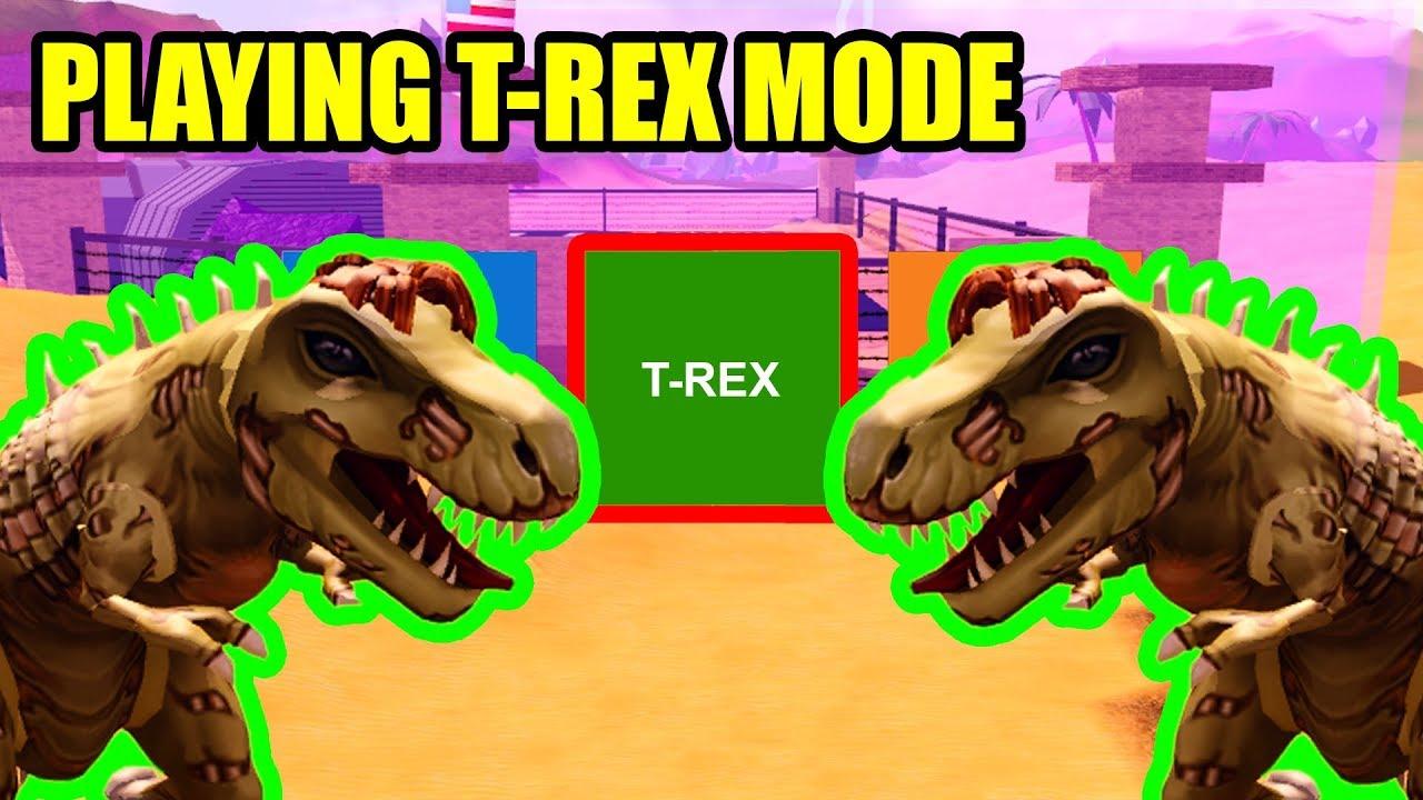Playing Jailbreak As T Rex Dinosaur Roblox Jailbreak Youtube