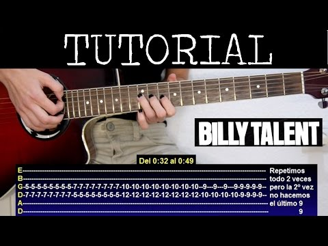 c mo tocar surrender de billy talent tutorial guitarra. Black Bedroom Furniture Sets. Home Design Ideas