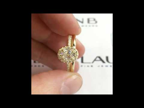 1 ct Oval Diamond Engagement Ring in Yellow Gold