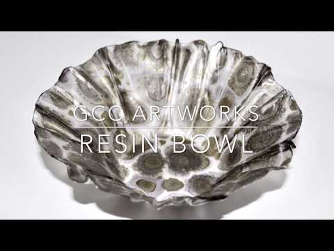 RESIN and ALCOHOL INK Bowl