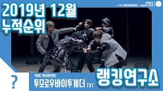 [랭킹연구소] 2019년 12월 보이그룹 누적순위 (남자아이돌 랭킹) | K-POP IDOL Boy Grou…