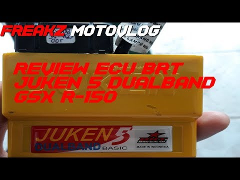 REVIEW ECU BRT JUKEN 5 Dual Band GSX R-150 (ECU RACING)