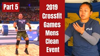 Olympic Lifting Coach Reacts to 2019 Crossfit Games Mens Clean Event - Part 5 I WuLift