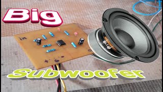 How to make Sub woofer by  IC 4558D - DIY Subwoofer Speaker