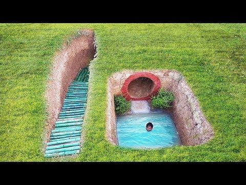 Build underground house has beautiful swimming pool