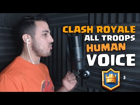 ALL CLASH ROYALE TROOPS HUMAN VOICE IMPRESSIONS + Extra Human Buildings SOUNDS Effects!