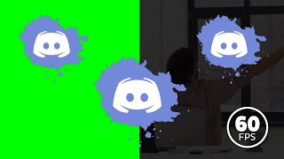 Discord Logo Green Screen , Alpha Channel    HD 60 Fps    Free Download 3 Animation