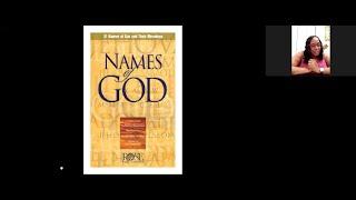 2021_0325 PWAM Bible Study: Names of God - PART 3