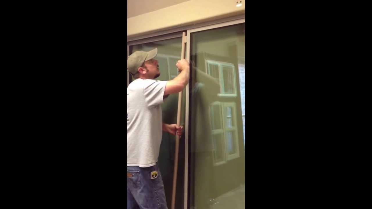 Installing Slide Right patio door closer - YouTube