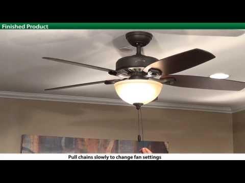 hampton bay ceiling fan hook up