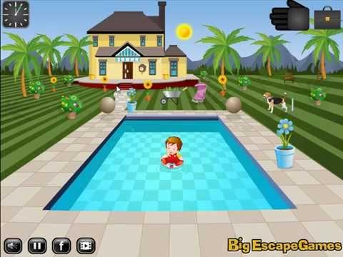Swimming Pool House Escape 1 Video Walkthrough Youtube