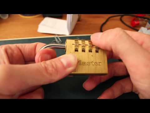 Comment ouvrir un cadenas code 4 chiffres master doovi - Comment changer le code d un cadenas ...