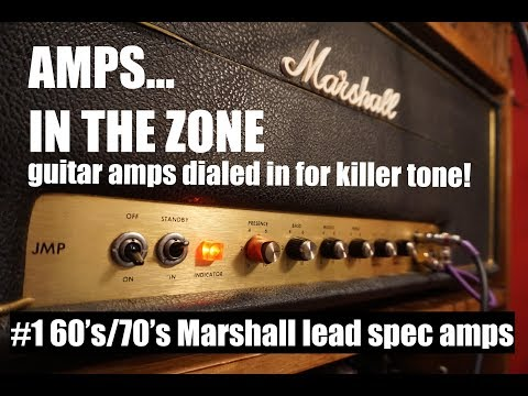 AMPS IN THE ZONE #1 late 60's/early 70's Marshall lead spec amps