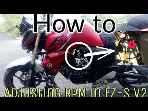 How to adjust RPM in Yamaha Fz-s V2...