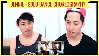 JENNIE - SOLO CHOREOGRAPHY UNEDITED VERSION REACTION 제니 솔로 (NZ TWINS REACT)