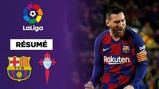 Résumé : D'un triplé fou, Messi porte le FC Barcelone contre le Celta Vigo