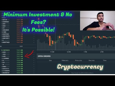 Bitcoin Trading For Beginners | Minimum Investment & NO FEES with GDAX Platform |