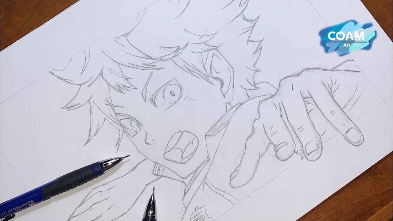Sketch drawing Hinata shoyo | Haikyuu!! | วาดรูป ฮินาตะ โชโย | ไฮคิว!!คู่ตบฟ้าประทาน