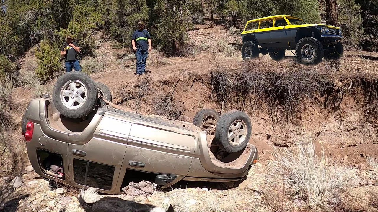 Jeep Liberty Rollover 100 Miles In The Backcountry