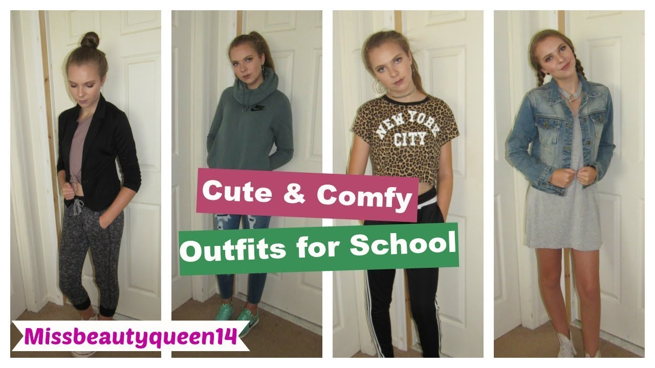CUTE & COMFY OUTFITS IDEAS FOR BACK TO SCHOOL! - YouTube