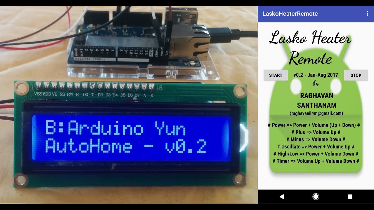 Control home appliance using phone autohome iot for
