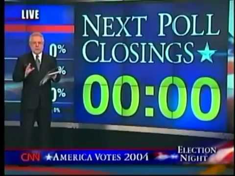 Election Night 2004 CNN  Coverage Part 1