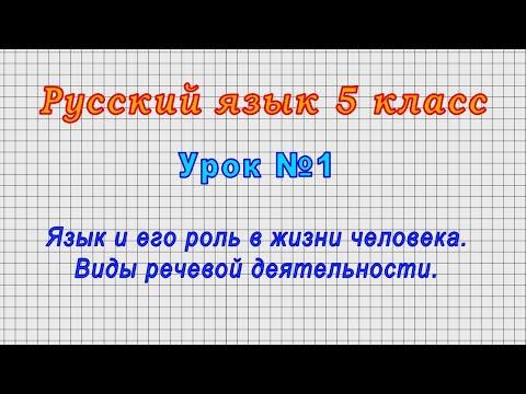 Видеоурок русский язык 5 класс