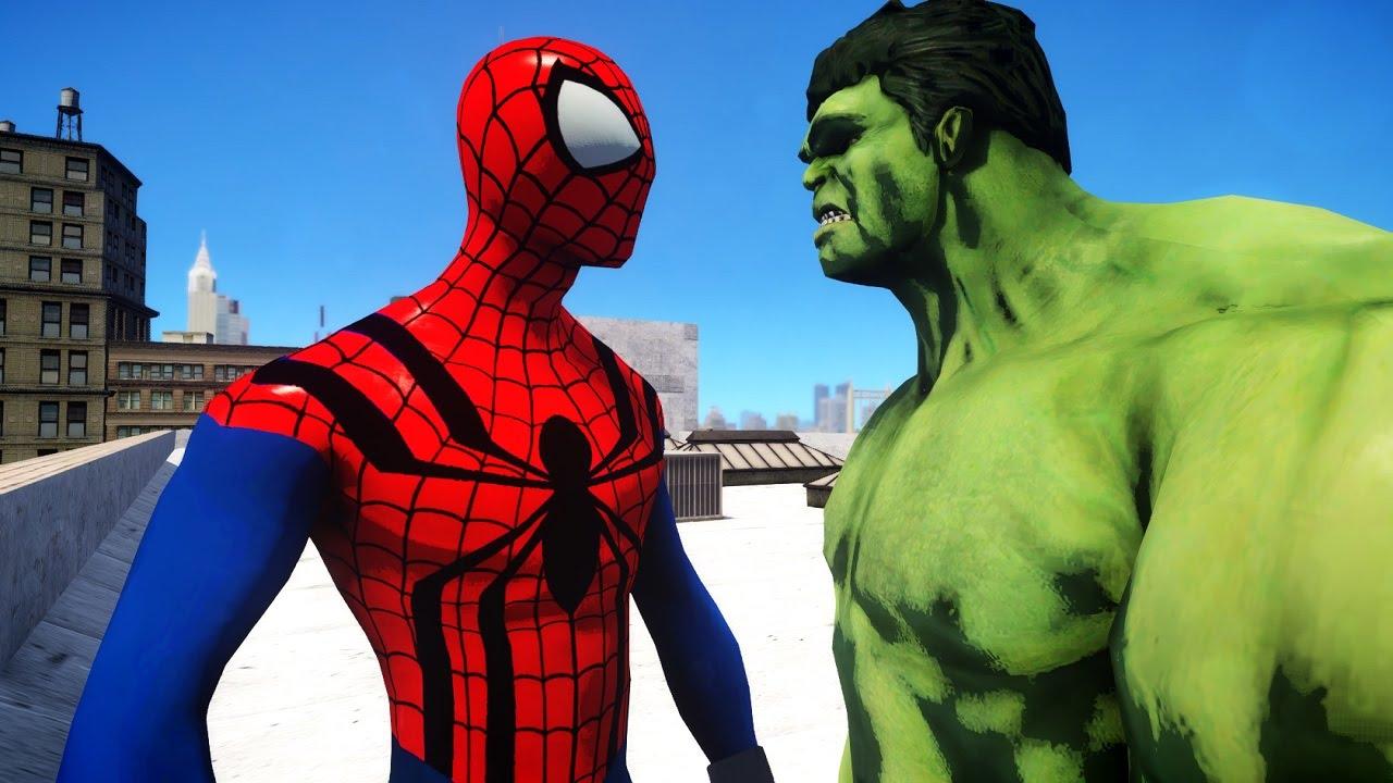 SPIDERMAN VS HULK - THE SENSATIONAL SPIDER-MAN - YouTube