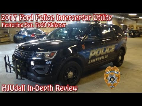 2017 Ford Police Interceptor Utility - HJUdall In-Depth Review (ft. Sgt. Todd Kleisner)