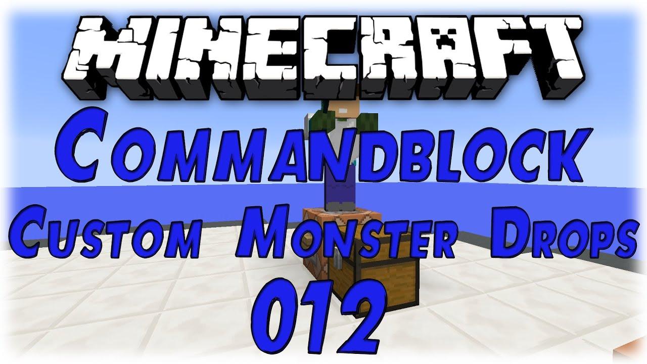 Minecraft Tutorial: Command Block - Custom Mob Drops #012 [Deutsch ...