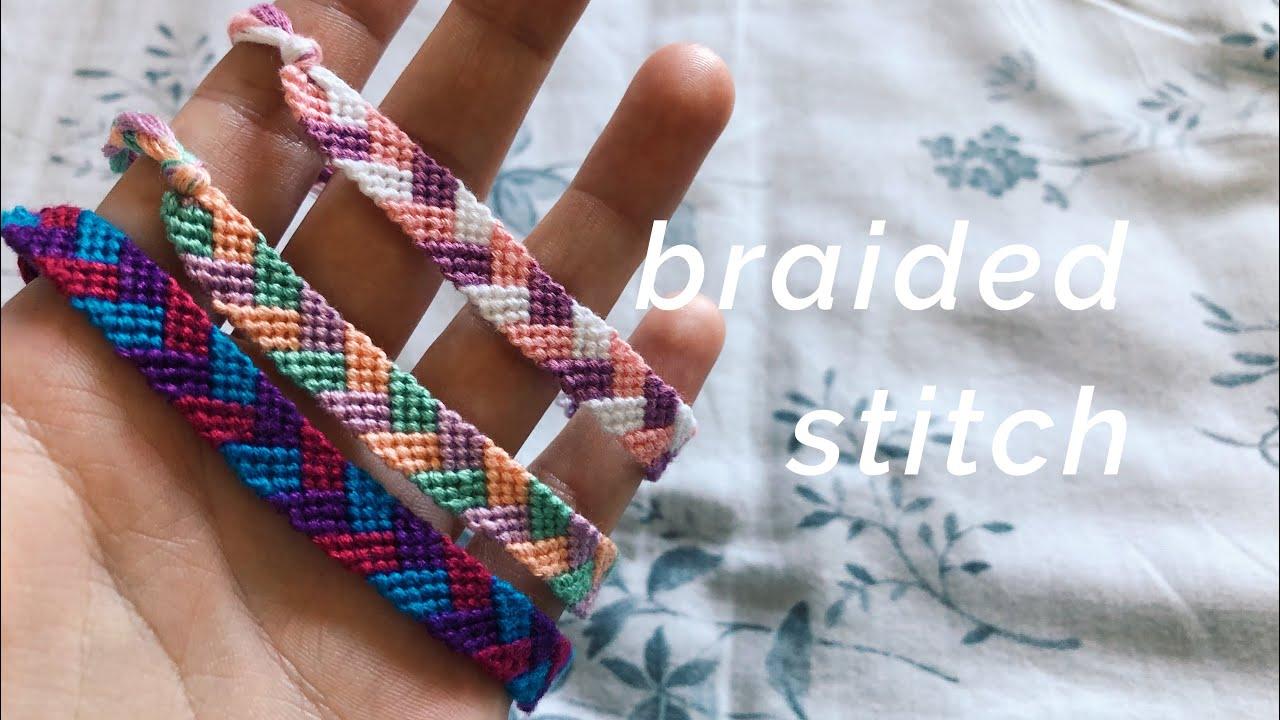 belles chaussures design élégant de gros braided stitch bracelet tutorial! (beginner)