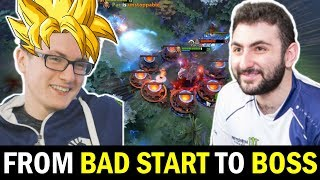 MIRACLE Invoker ft GH Genius Support - From Bad Start to Boss Dota 2