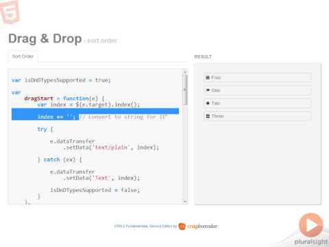 9 Implementing Drag and Drop Sortable List
