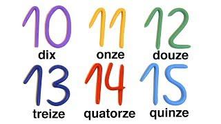 Счет от 10 до 20 на французском языке. Часть 1