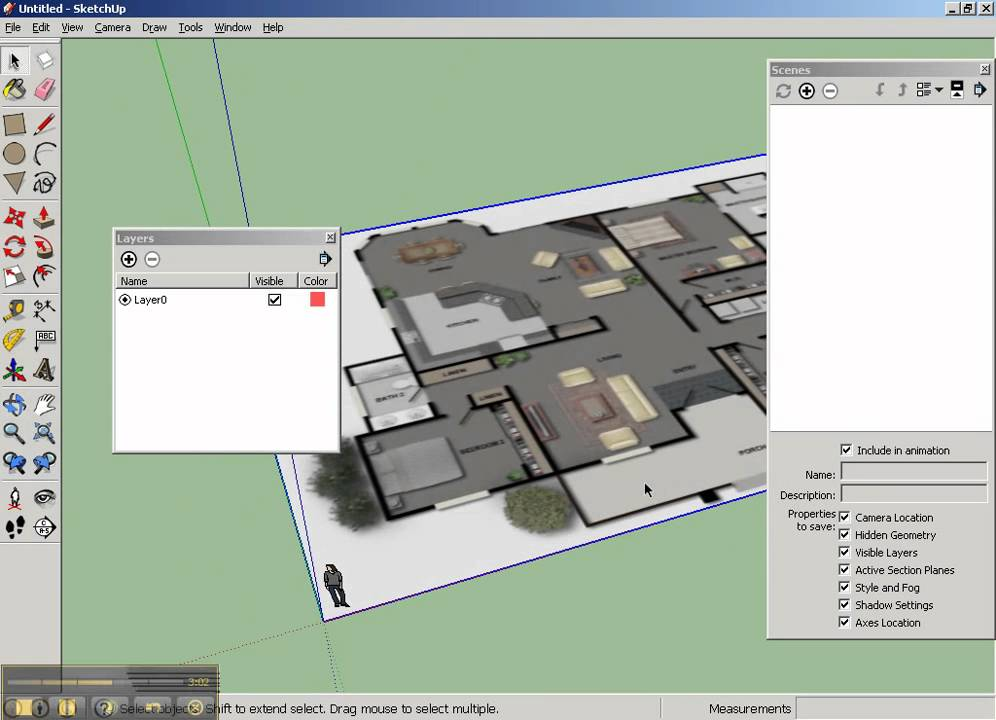 Sketchup floorplan part1 youtube for Google house design