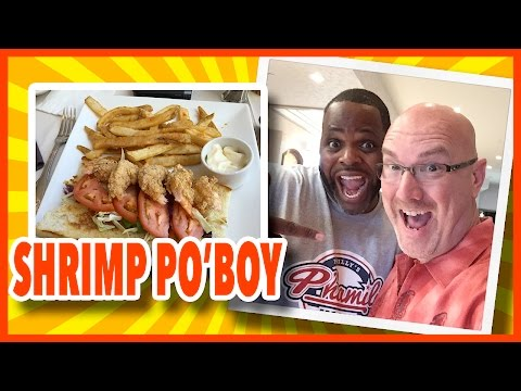 Shrimp Po'Boy Review in Galveston, Texas, with Special Guest Daym Drops