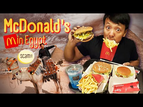 Egyptian McDonald's & SCAMMED BAD at The Pyramids in Cairo Egypt