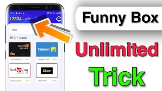Funny Box Unlimited Trick || Earn Flipkart And Amazon Gift Voucher || Unlimited Coin Added Funny Box screenshot 2