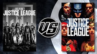 Zack Snyder's Justice League (2021) VS Justice League (2017)
