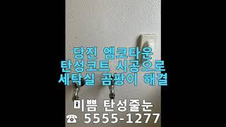 당진 엠코타운 세탁실 곰팡이 탄성코트 바이오세라믹 시공…