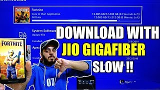 FORTNITE Download with Jio Gigafiber on PS4 | 1 Gbps Speedtest | HINDI |