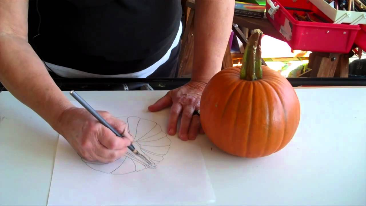 pumpkin drawing with shading. how to add shading a drawing make it look 3d pumpkin with