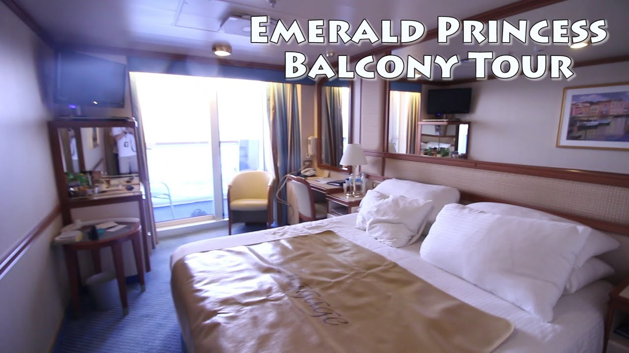 Emerald princess balcony room tour l251 youtube for Alaska cruise balcony room